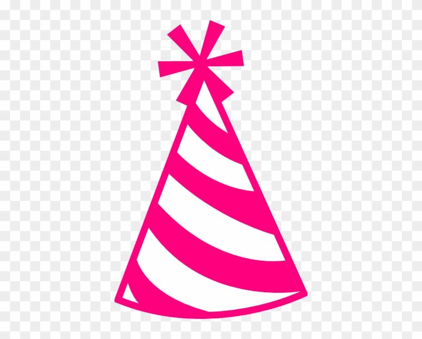 Pink Hat Clip Art At Clker Com Vector Clip Art Online - Pink Party Hat Clip Art #45689