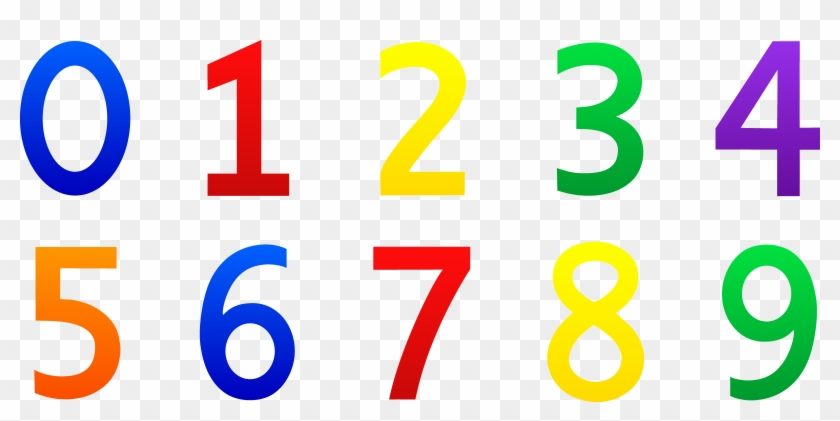 Number Clipart For Kid Png Pencil And In Color - Numbers 0 9 Clipart #45715