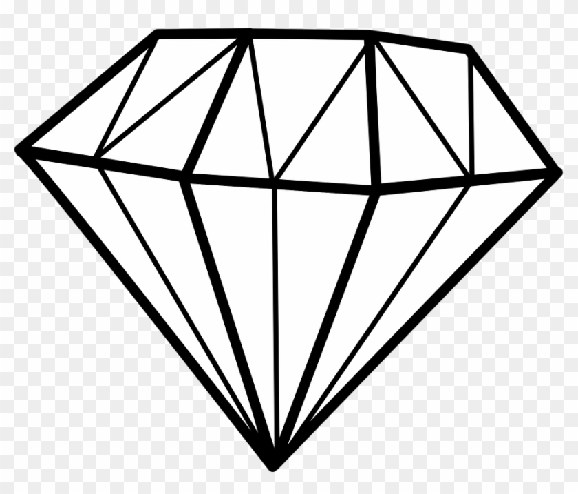 Line Drawing Diamond #45739