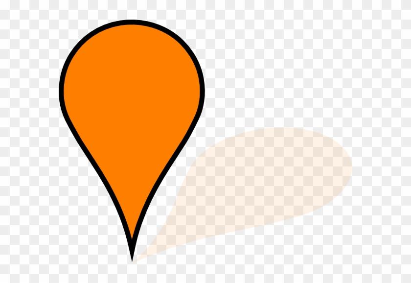 Google Map Pin Orange #46037