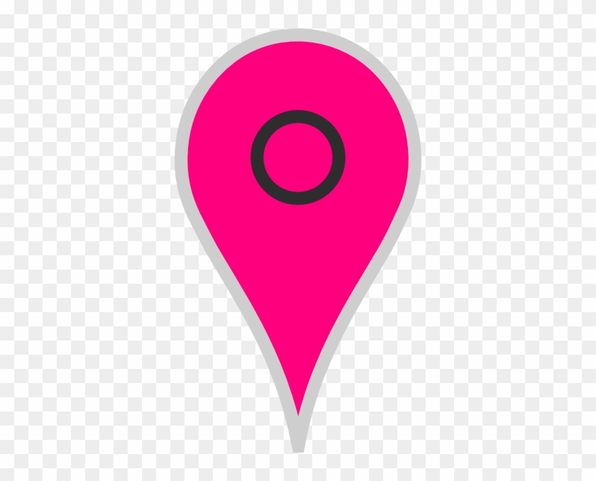 Google Map Pointer Pink Clip Art - Google Maps Icon Pink Png #46093