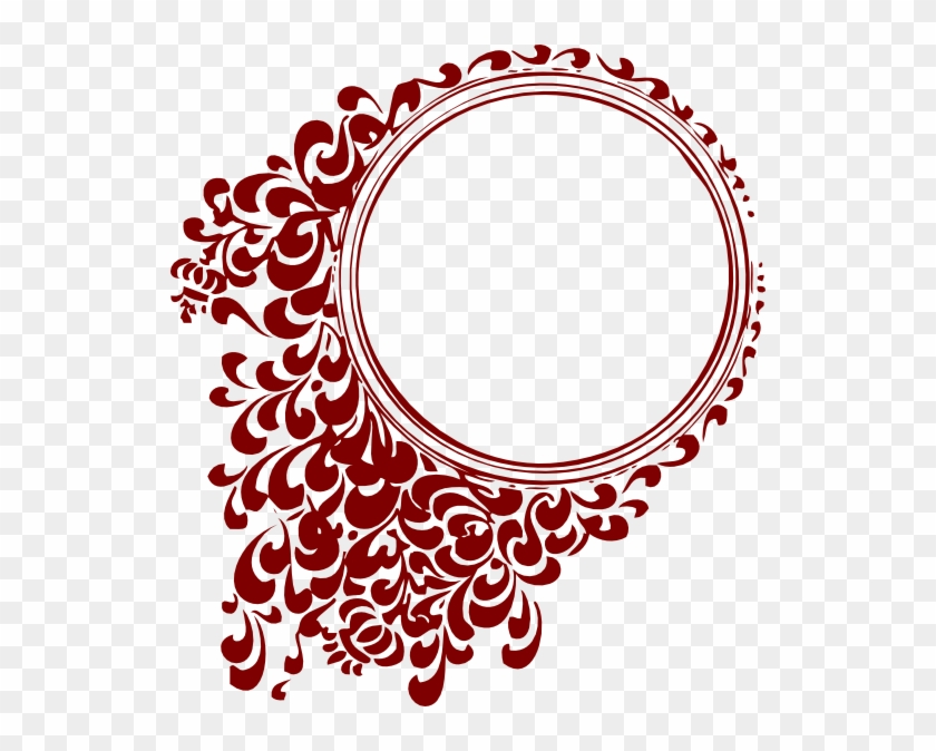 Here You Can See The Filigree Clip Art Collection - Red Round Photo Frames #46122