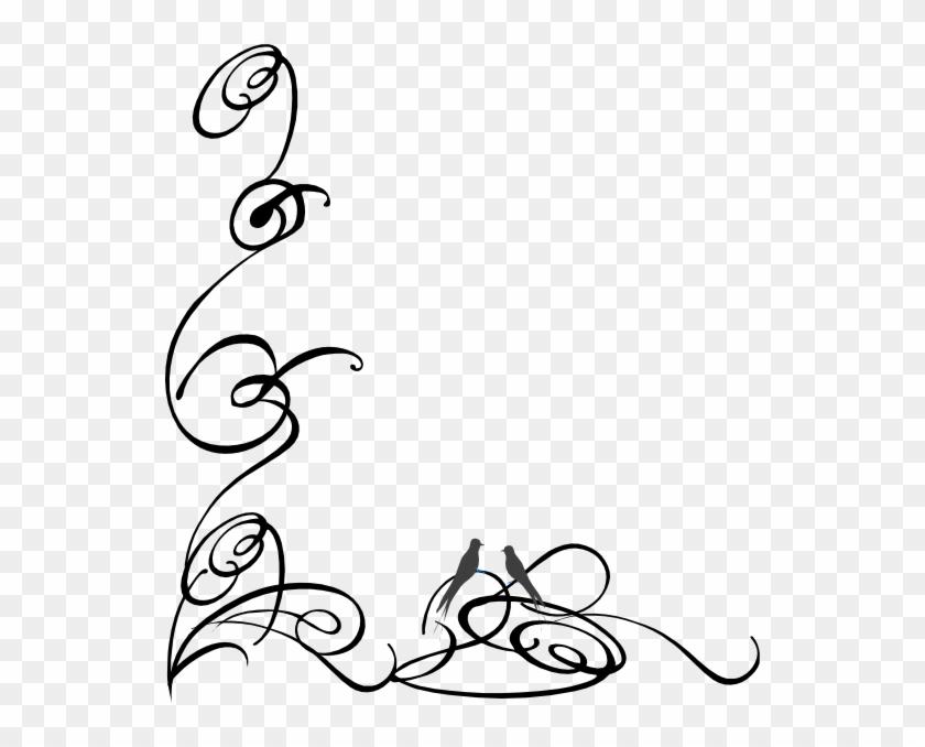 Swirls Border Clipart - Png Swirl Border #46173