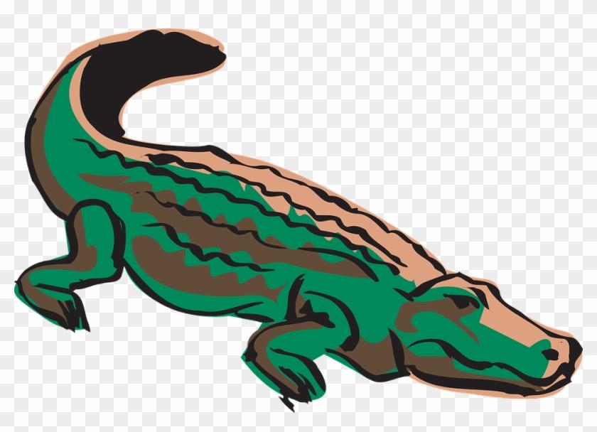 Crocodile Silhouette Clip Art Clipart Panda - Crocodile Clipart Png #46177