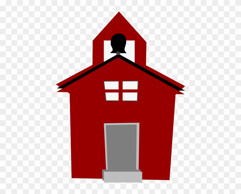 Red Schoolhouse Clip Art - Cartoon School House #46445