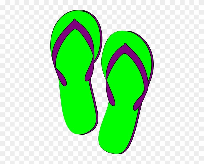 Flip Flop Clipart Green Purple Flip Flops Clip Art - Green Flip Flop Clip Art Free #46460