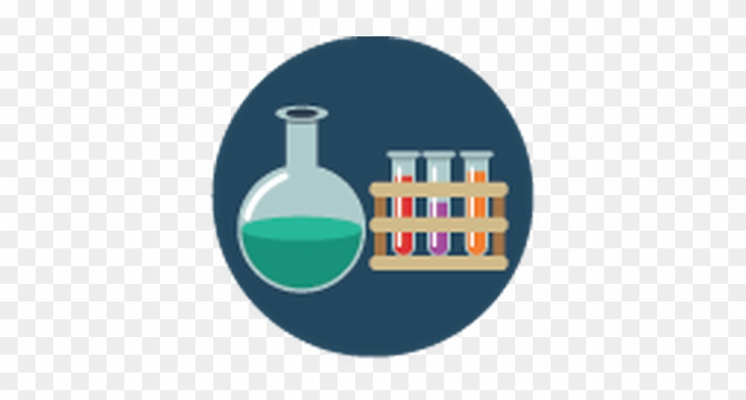 Yellow And Blue - Science Flat Icon Png #46558