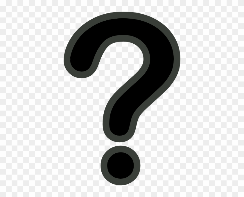 Black And Grey Question Mark Clip Art - Black Question Mark Vector #46617