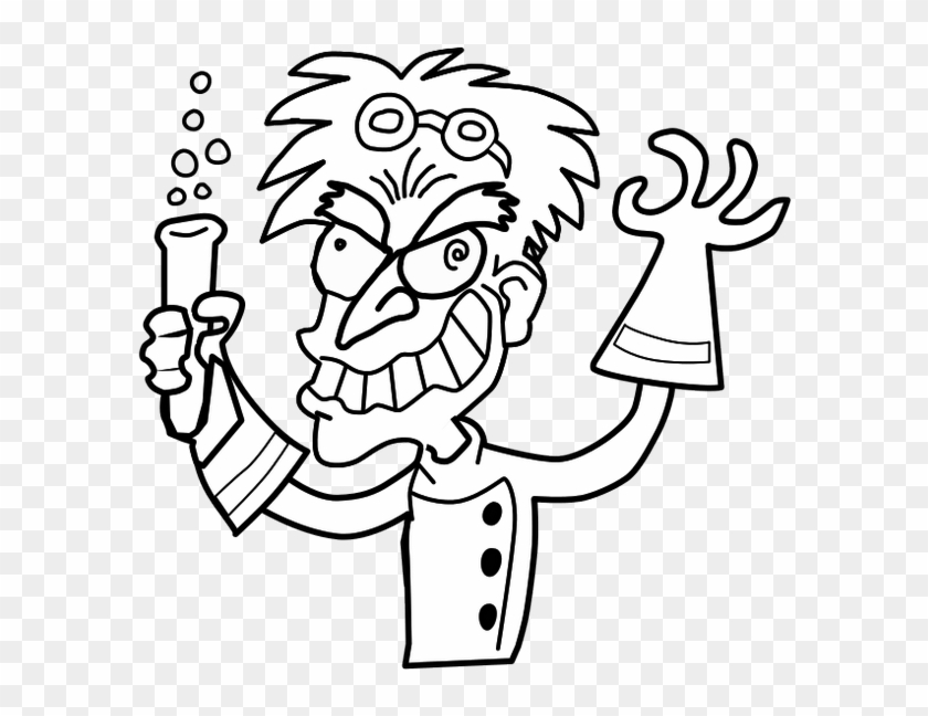 Science Clipart To Print - Mad Scientist Easy Drawing #46680