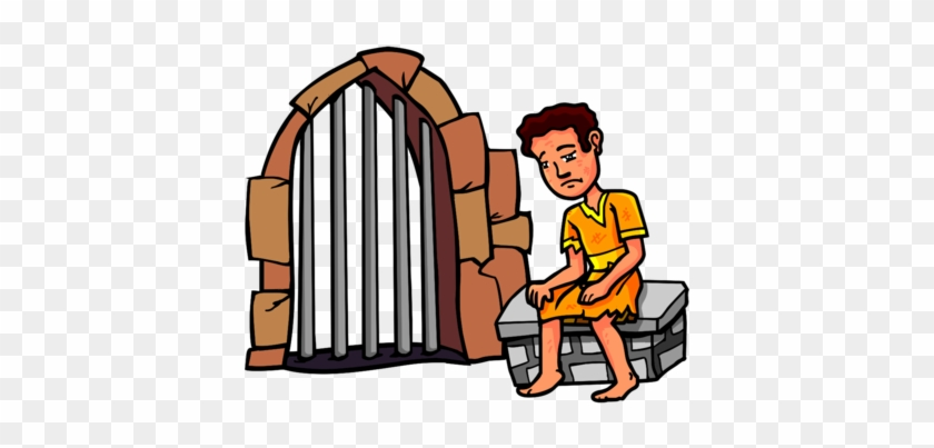 Joseph In Jail - Joseph In Prison Clipart #46721