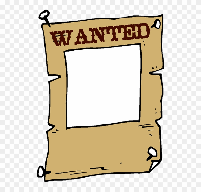 Wanted Frame Clip Art Vintage Quote Cardboard - Wanted Poster - Free ...