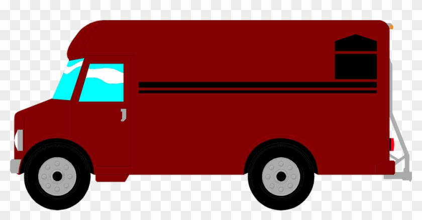 Delivery Van Clipart Png - Red Food Truck Clipart #46814