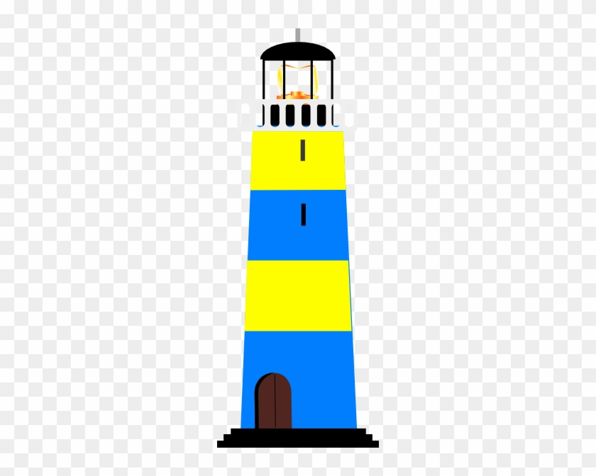Yellow And Blue Lighthouse Clip Art At Clker - Blue And Yellow Lighthouse #46850