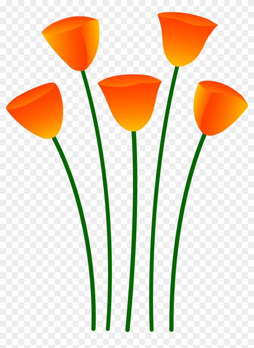Clipart Info - Orange Flowers Clipart #46875