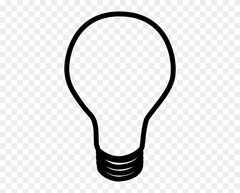 Lamp - Clipart - Black - And - White - Black And White Cartoon Light Bulb #46856