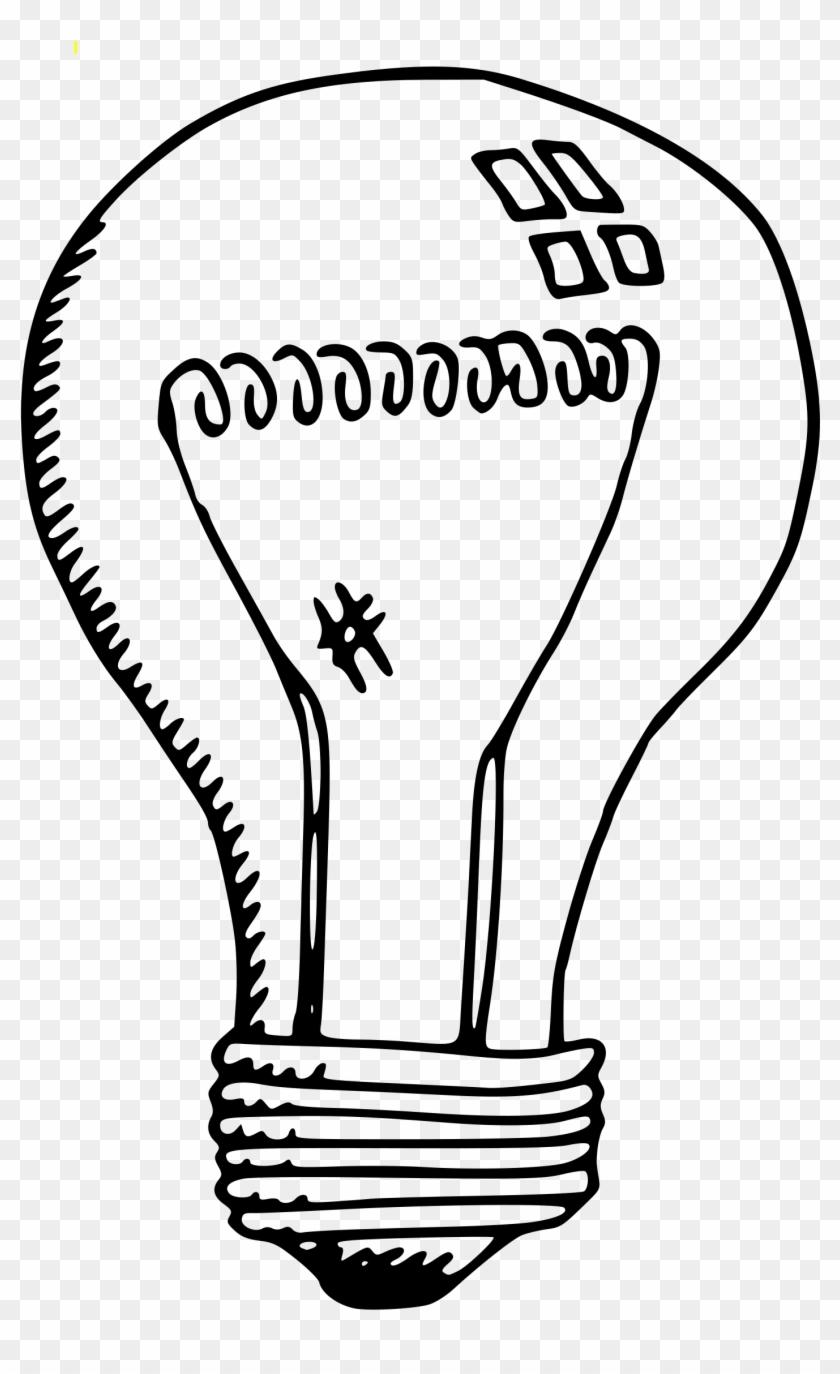 Light Bulb Clipart Drawn - Led Light Bulb Clip Art Black And White #46872