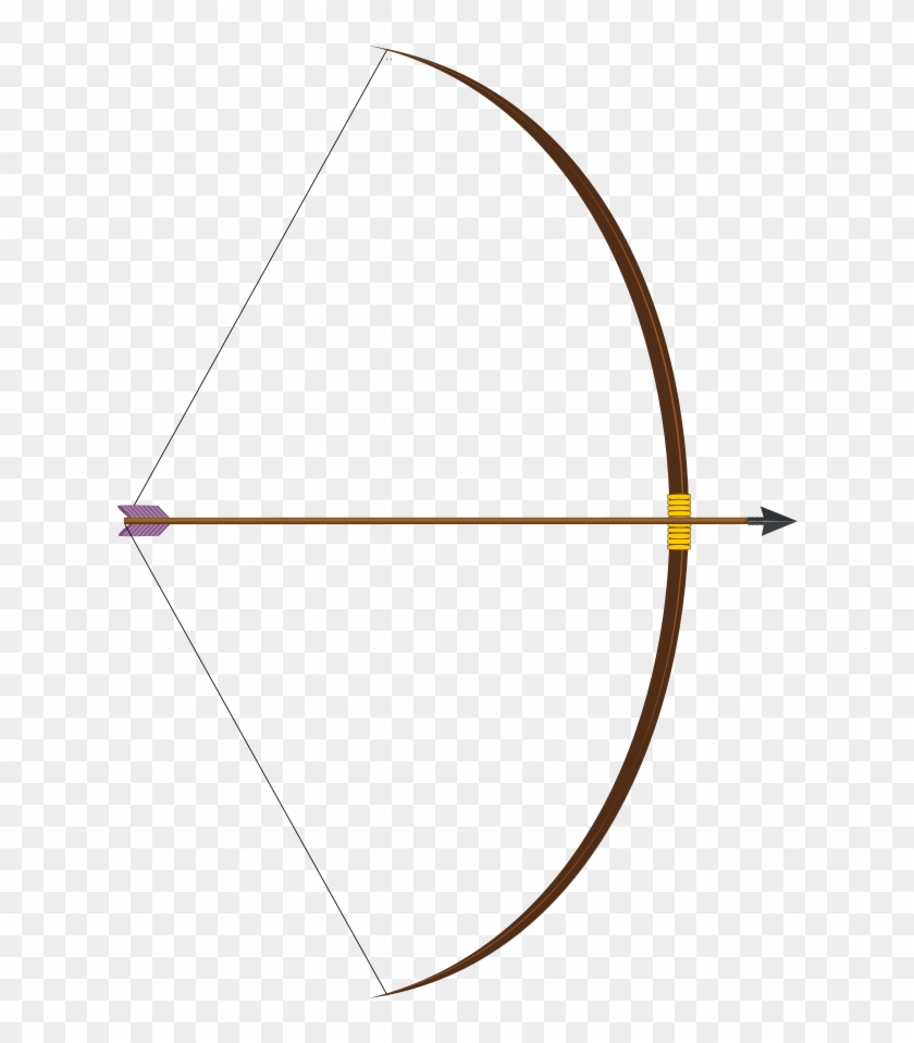 Bow With Arrow Clipart, Vector Clip Art Online, Royalty - Long Bow And Arrow #46888