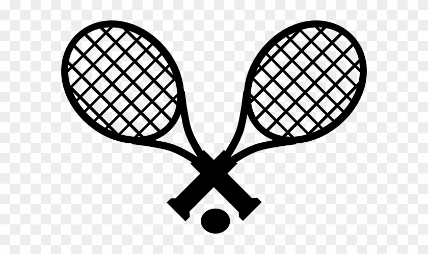 Tennis Ball Outline - Simple Tennis Racket Drawing #46948
