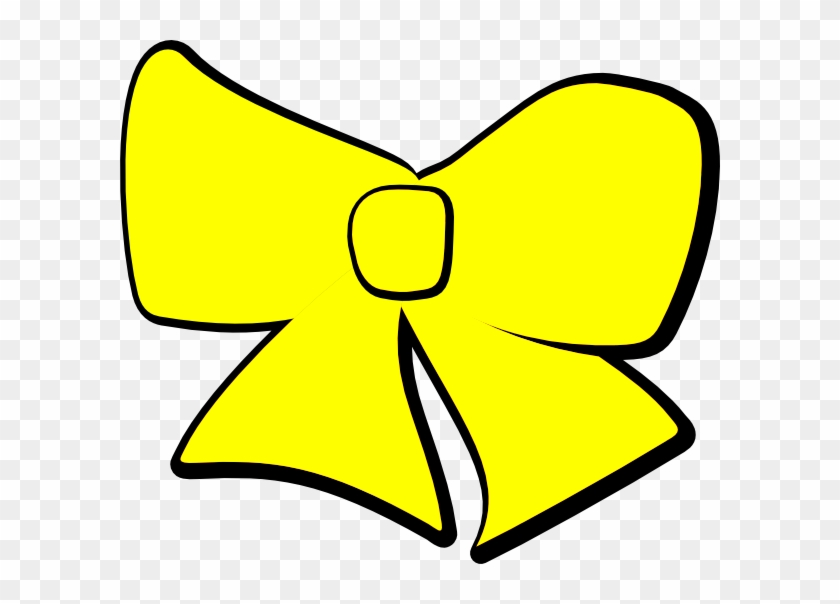 Yellow Bow Clip Art At Clker - Bow Clip Art Yellow #46958