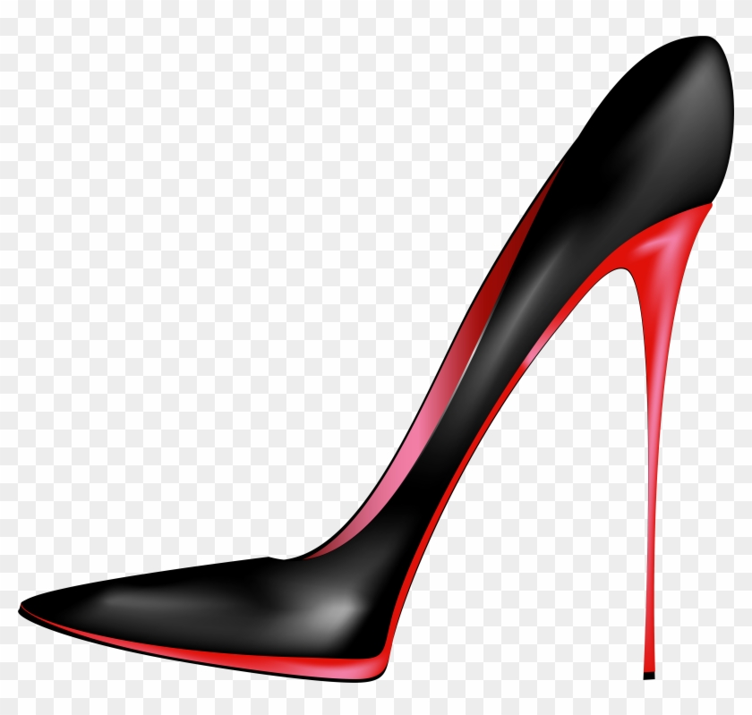 Black Red High Heels Png Clip Art - High Heels Shoes Png #47050