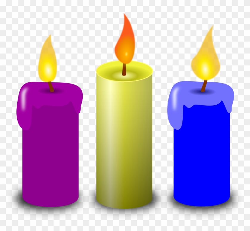 3 Candles Clipart #47074