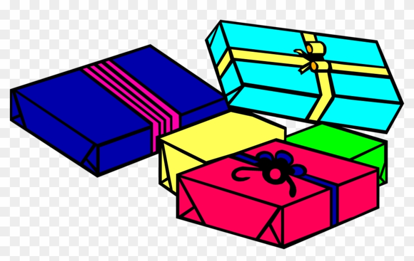 Christmas Presents Clipart.Gift Cartoon Birthday Clip Art Christmas Presents To Color