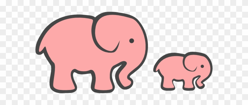 Pink Baby Elephant Clip Art 9 Png - Elephant And Baby Elephant Clipart #47255