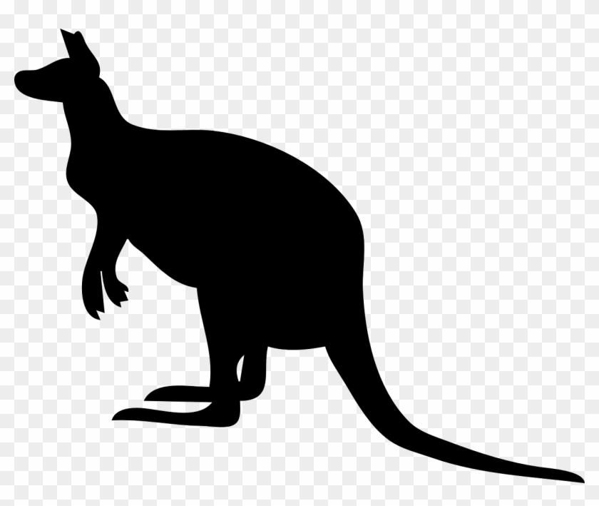 Kangaroo Silhouette Clipart #47400