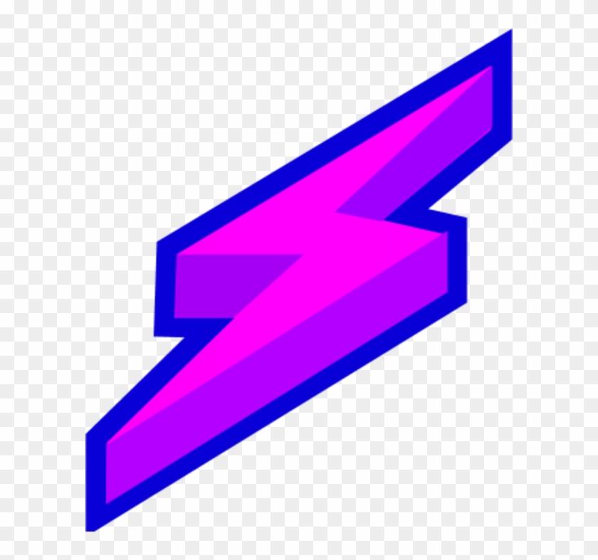Lightning Clipart Public Domain - Purple Lightning Bolt Logo #47565