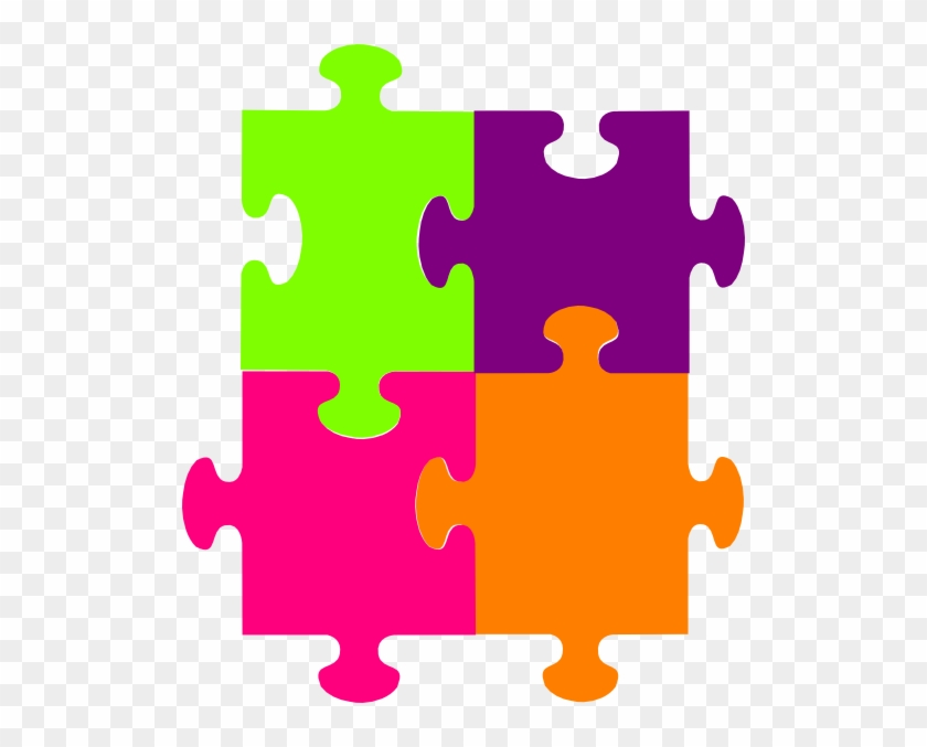 Jigsaw Puzzle 4 Pieces Png, Svg Clip Art For Web - 4 Piece Jigsaw Puzzle #47662