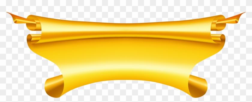 Gold - Ribbon Banner Png #47670