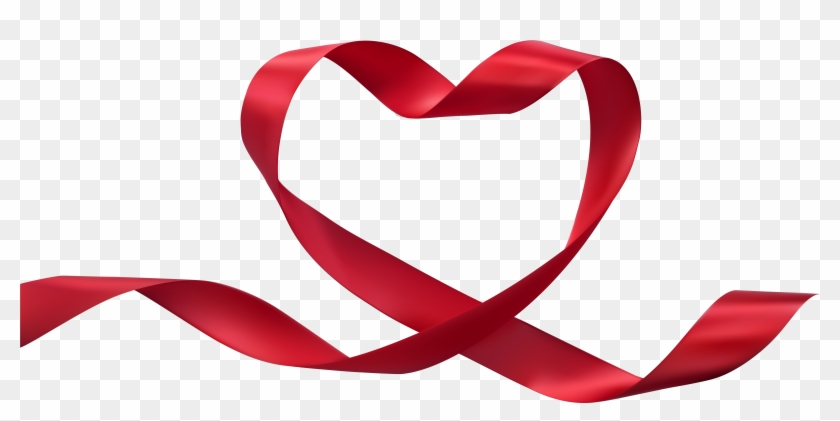 Heart Ribbon Transparent Png Clip Art Image - Heart Ribbon #47914