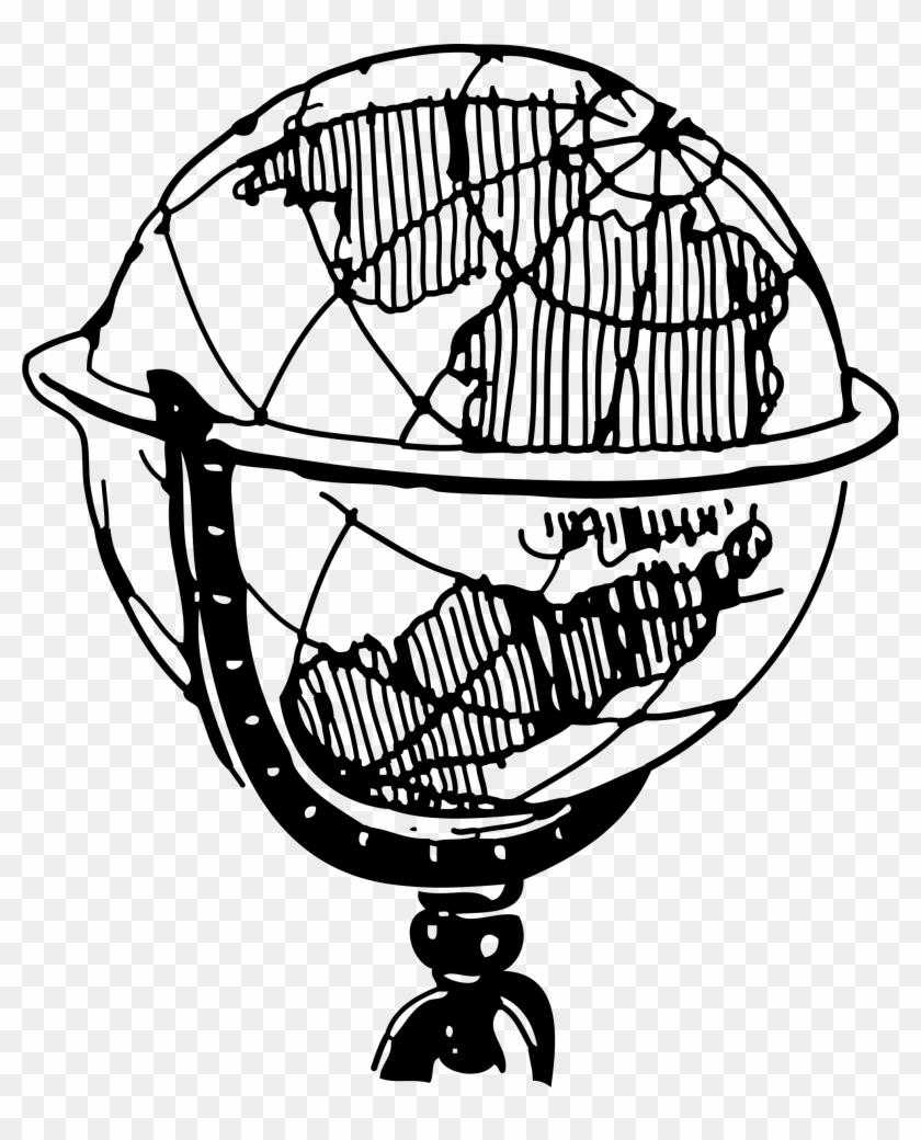 8274 Globe Clipart Black And White Globe Clipart Black - Globe Clip Art Black And White #48018