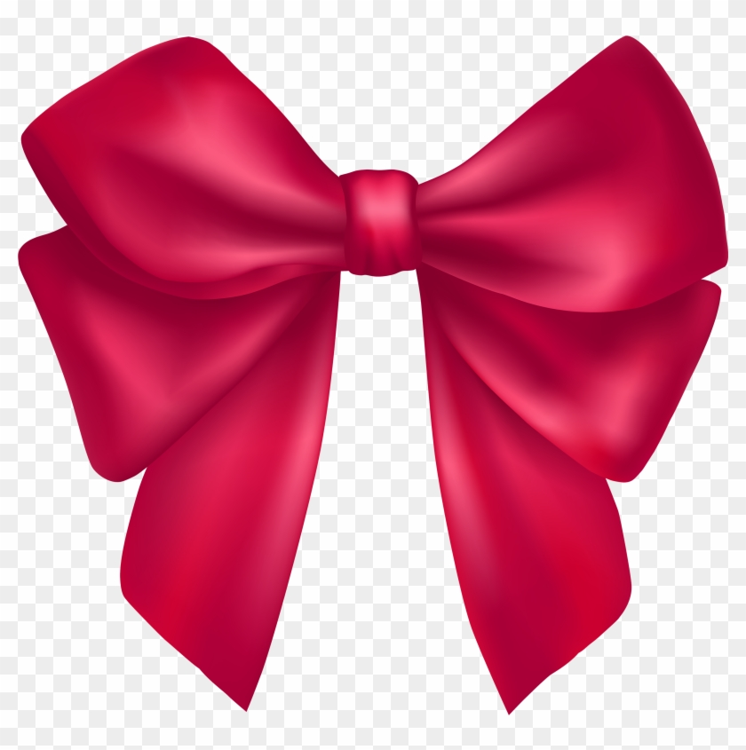 Pink Clip Art - Pink Bow Png #48188