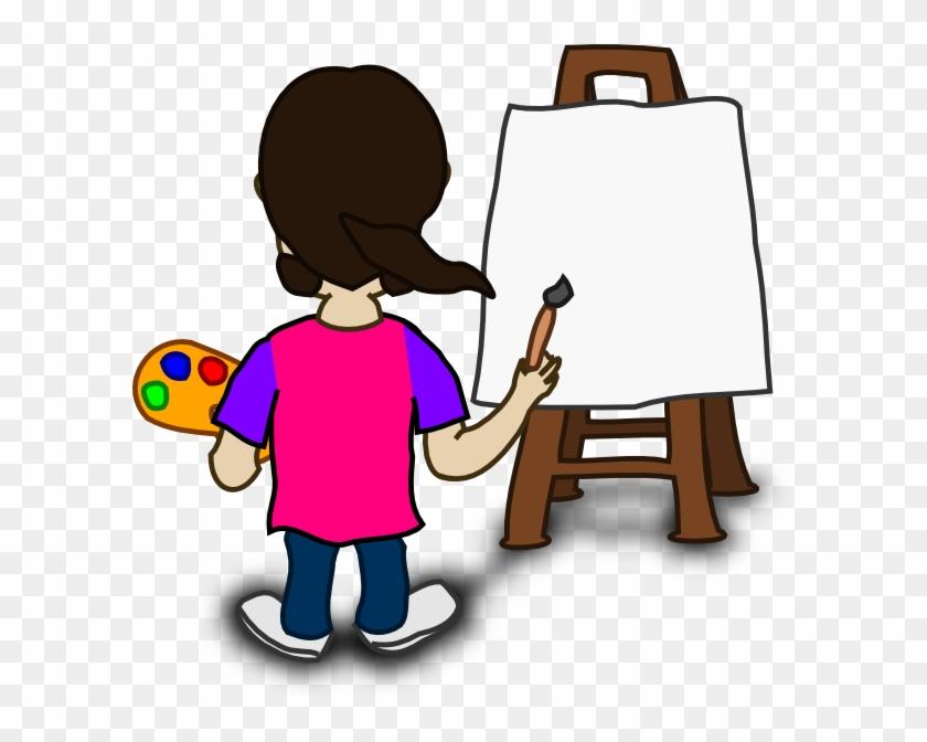 Painting Cartoon Cartoon Character Painting Blank Slate - Cartoon Of Someone Painting #48190