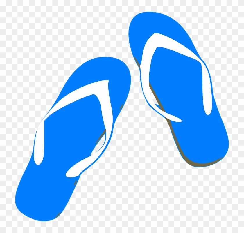 Free Vector Graphic - Blue Flip Flops Clip Art #48255