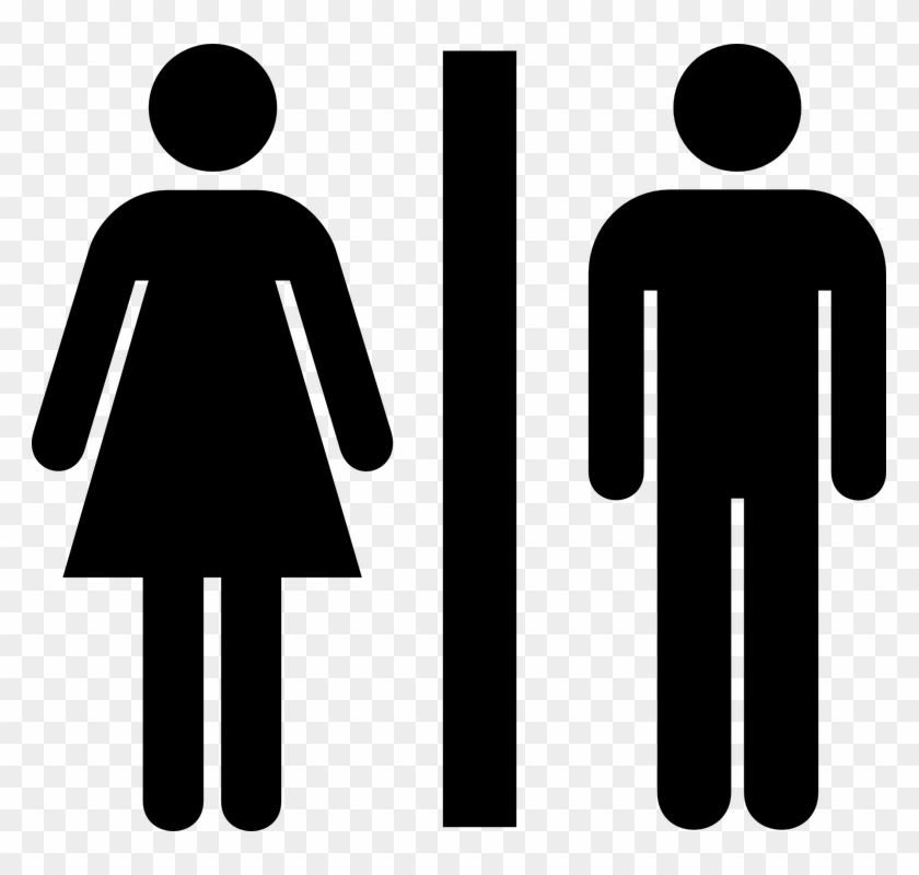 Ladies Gents Toilet Signs Clip Art - Toilet Icon #48298