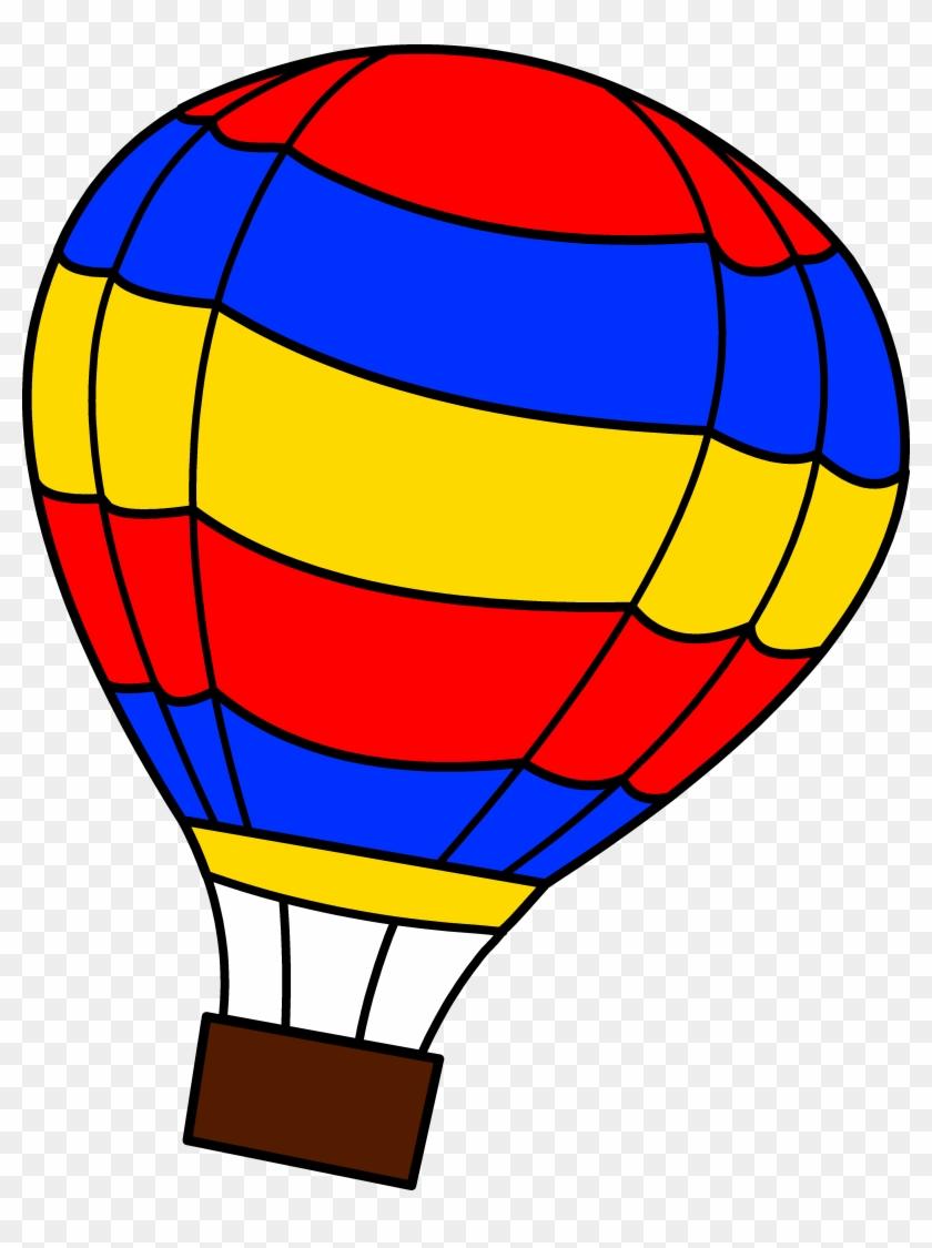 Hot Air Balloon Clip Art - Hot Air Balloons Coloring Pages #48390
