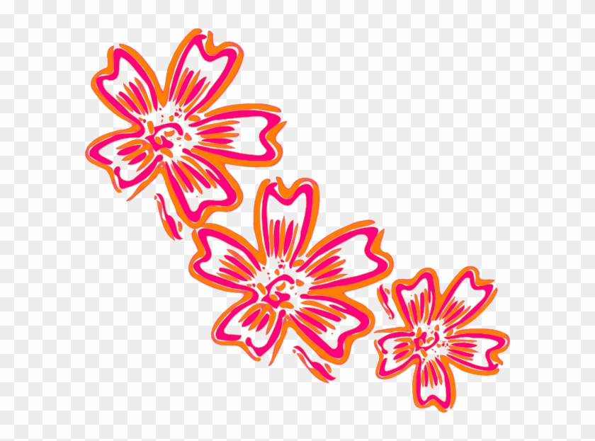 Flower Svg Clip Arts 600 X 543 Px - Cluster Of Flowers Cartoon #48396