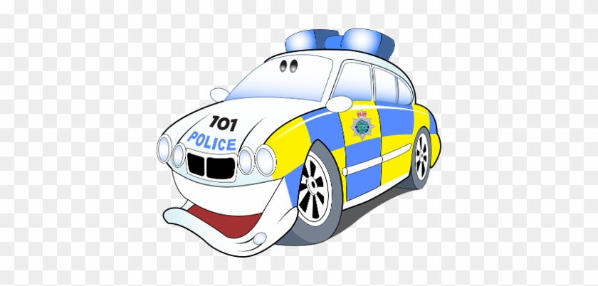 Uk Police Car Clipart - Cartoon Uk Police Car #48398
