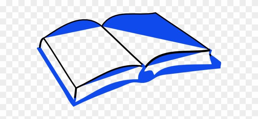 Blue Open Book Clip Art - Open Book Clip Art #48569