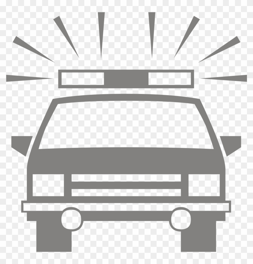 Police Car Silhouette Icon - Police Car Silhouette #48638