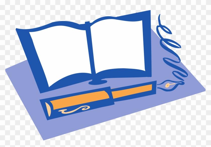 Epa Sunwise - Book And Pen Clip Art #48718