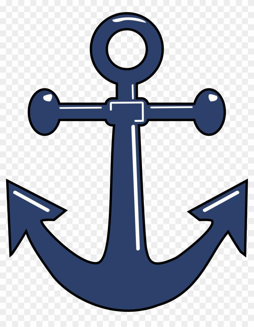 Clipart Ancla Open Anchor - Navy Anchor #48752