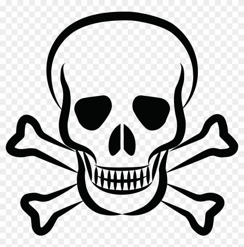 Free Clipart Of A Skull And Crossbones - Skull And Crossbones #48933