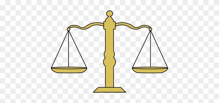 Balanced Scale Clip Art Vector Image - Balance Scale Clipart #49058