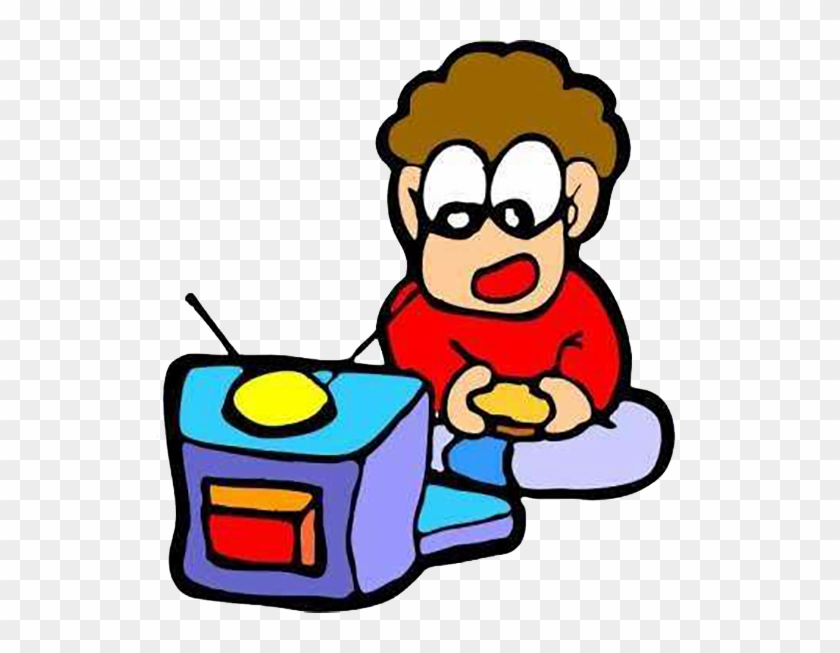 Child Television Clip Art - Png Animated Children Watching Tv #49180