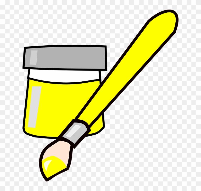 Paint Yellow Clip Art #49181