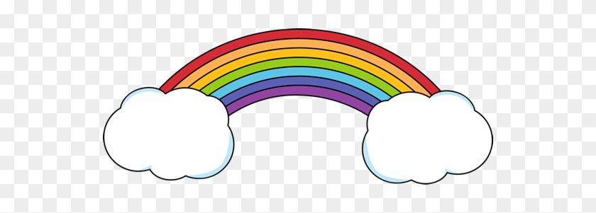 Rainbow Clip Art - Rainbow Clipart With Clouds #49349