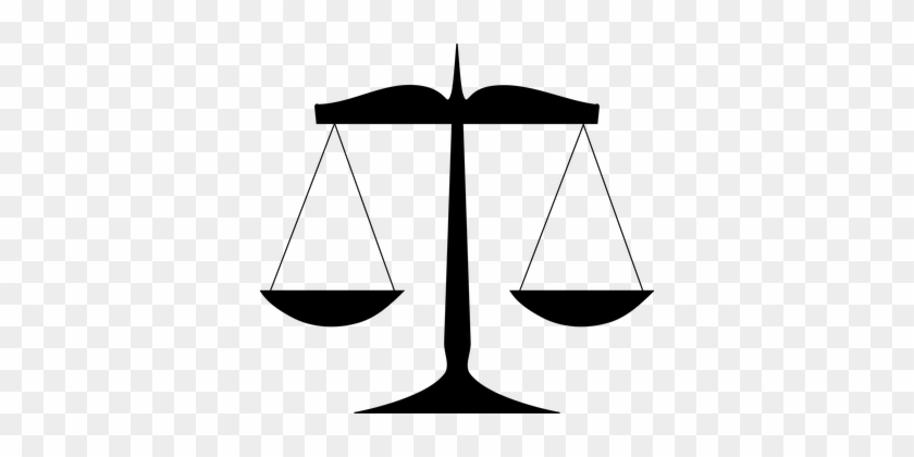 Scales Law Justice Balance Weight Court Sc - Scales Of Justice Clip Art #49403